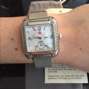 Michele diamond milou watch